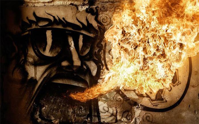 Дух огня. Фото Tom Lacoste.