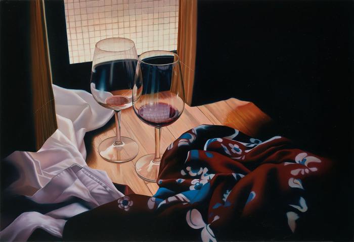 Два бокала. Автор: Tomona Matsukawa.