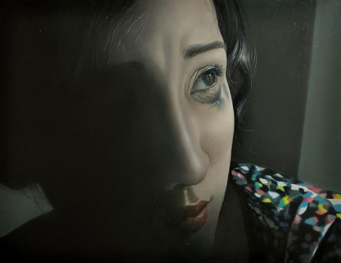 Потёкшая тушь. Автор: Tomona Matsukawa.