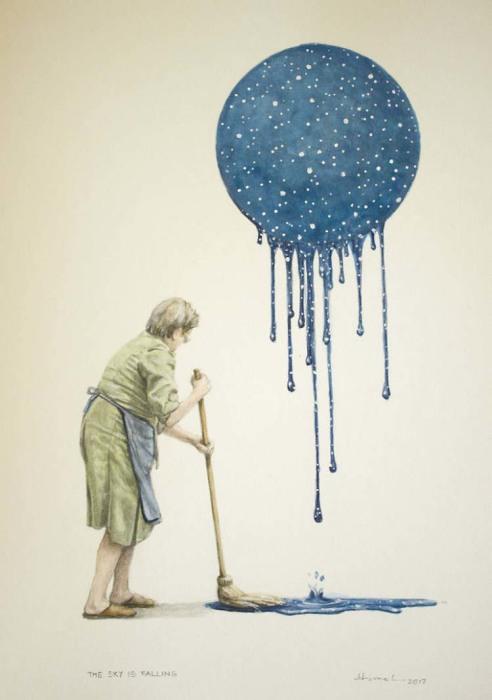 Рухнувшие небеса. Автор: Toni Hamel.
