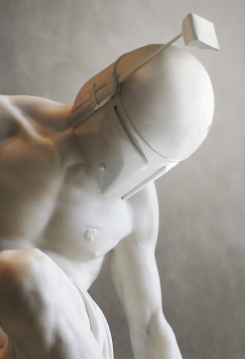 Боба в образе умирающего гладиатора. Автор: Travis Durden.