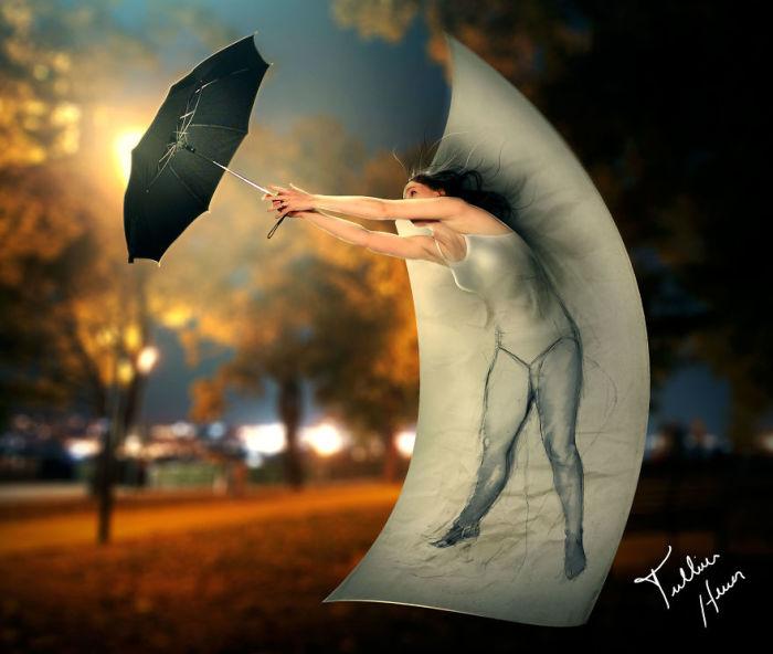 Спаси мене, зонтик. Автор: Tullius Heuer.
