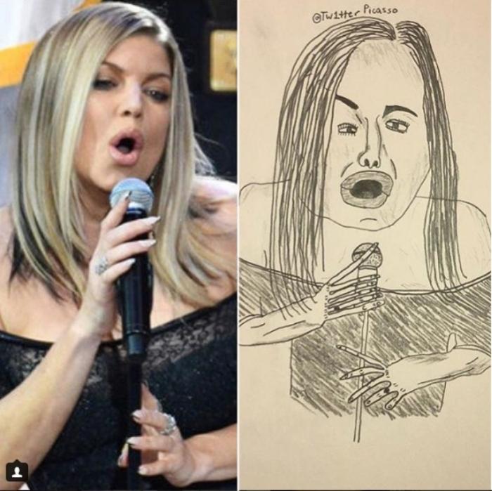 Стейси Энн Фергюсон, более известная как Fergie — американская певица, дизайнер и актриса. Автор: Twitter Picasso.