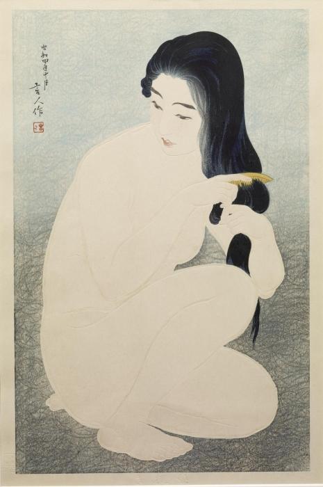Расчесывание волос, 1929 год. Автор: Тории Котондо.