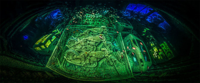Затонувший британский вооружённый сухогруз «Тистлегорм», Шарм-эш-Шейх, Египет. Автор: Тобиас Фридрих ( Германия).