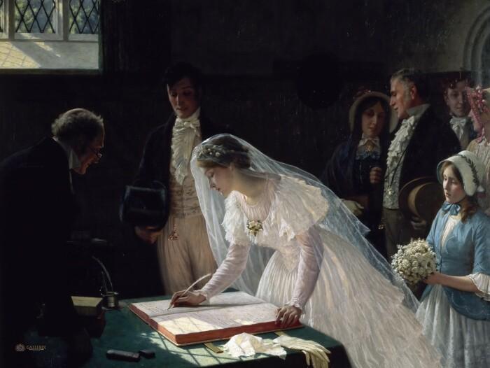 Регистрация брака, Эдмунд Блэйр-Лейтон. \ Фото: livejournal.com.