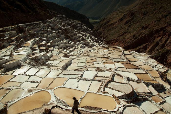 Соляные поля, Марас, Перу. Автор фото: Uruma Takezawa.