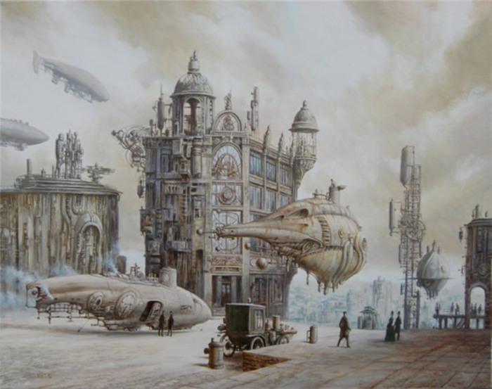 Летающие корабли. Стимпанк в картинах Вадима Войтеховича (Vadim Voitekhovitch).