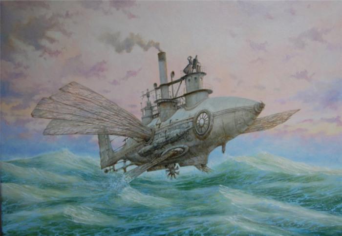 По морям и по волнам. Стимпанк в картинах Вадима Войтеховича (Vadim Voitekhovitch).
