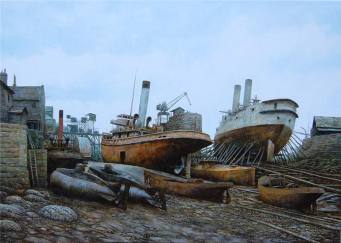 Пристань одиноких кораблей. Стимпанк в картинах Вадима Войтеховича (Vadim Voitekhovitch).