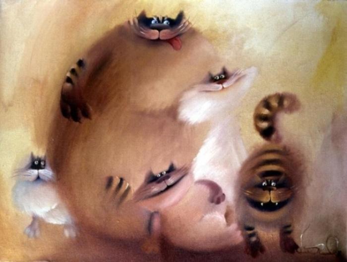 Коты. Автор: Валерий Хлебников.