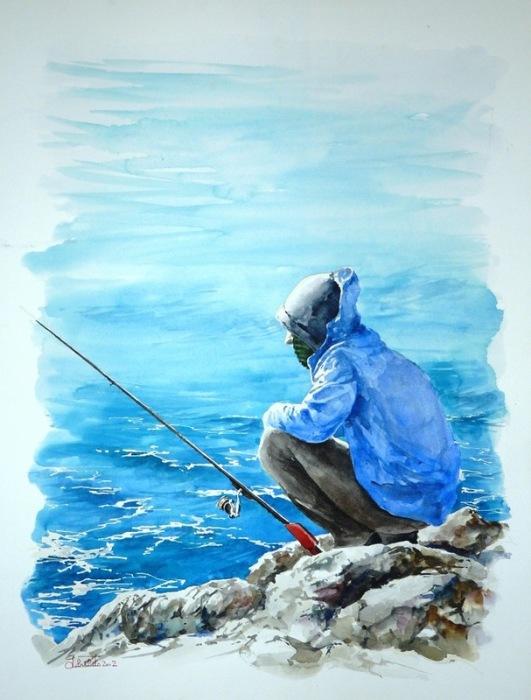 Рыбак. Автор: Valerio Libralato.