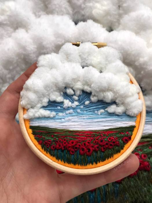 Вата: Белоснежные облака. Автор: Vera Shimunia.