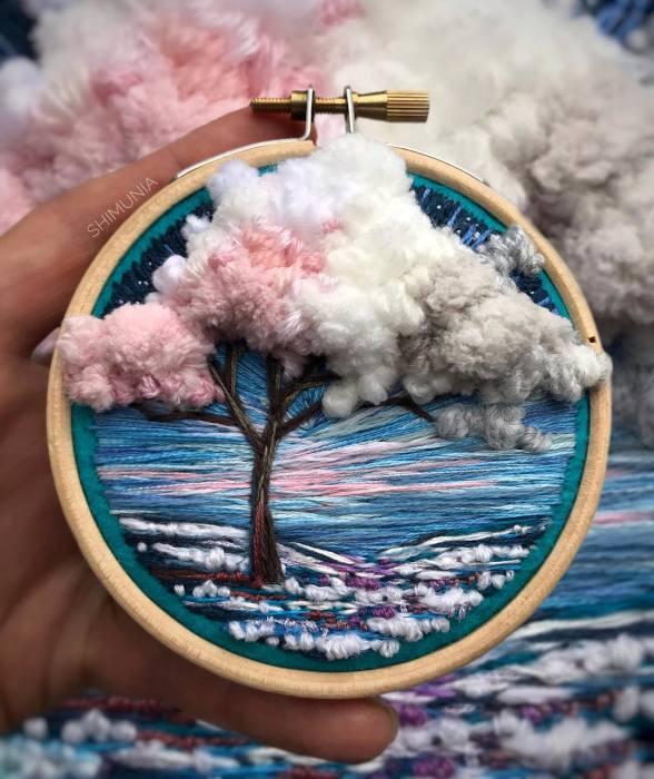 Цветущие деревья. Автор: Vera Shimunia.