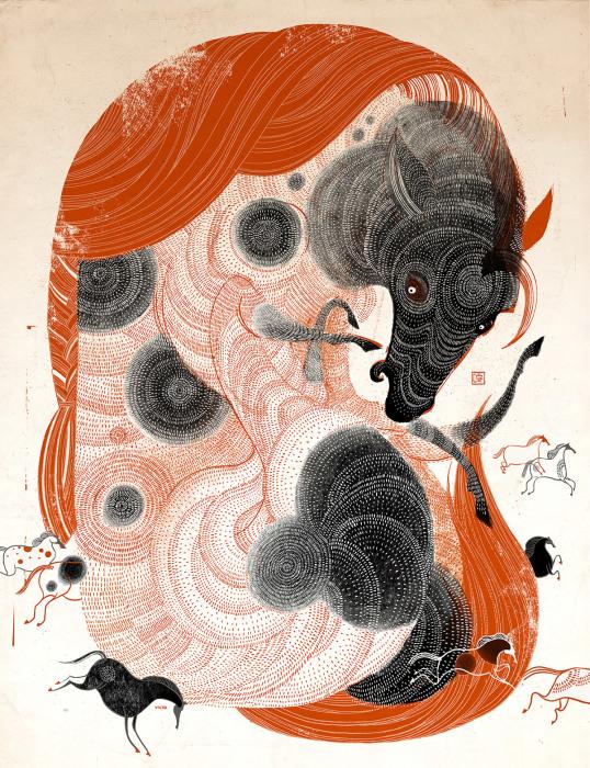 Лошади. Автор: Victo Ngai.