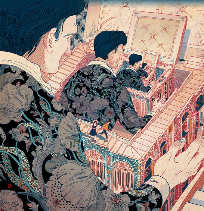 Город вымышленных людей. Автор: Victo Ngai.