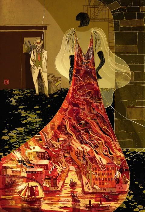 Огненный город. Автор: Victo Ngai.