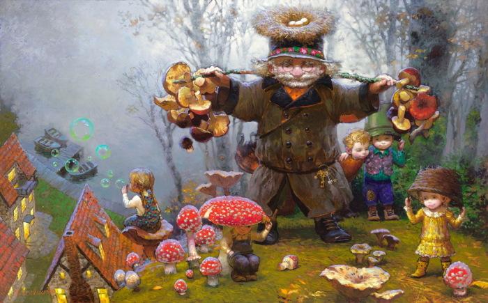 За грибами. Автор: Виктор Низовцев.