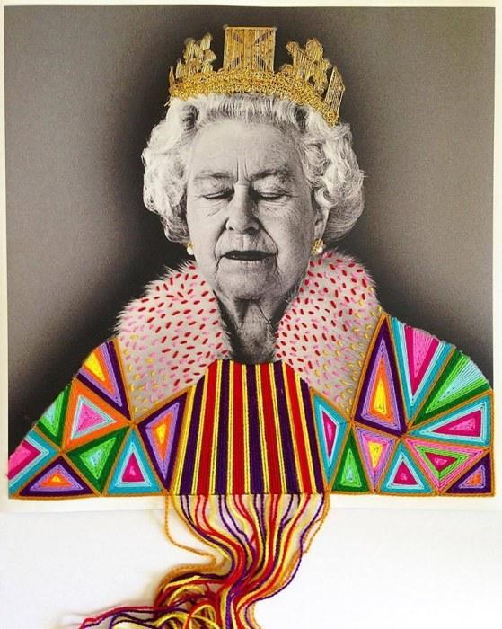 Королева Елизавета II. Автор: Victoria Villasana.