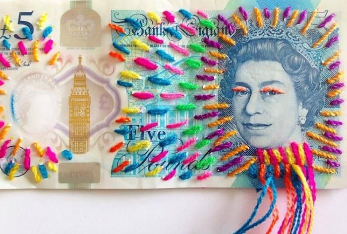 Банк Англии пять фунтов. Автор: Victoria Villasana.
