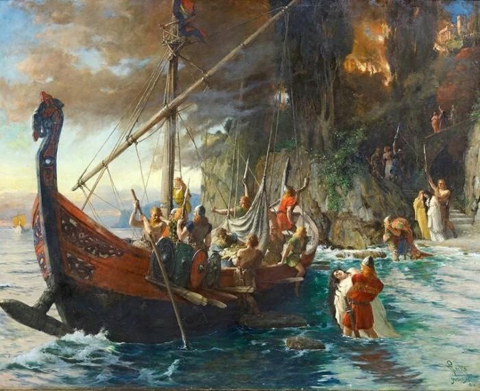 Фердинанд Лике: «Набег викингов», 1906 год. \ Фото: google.com.ua.