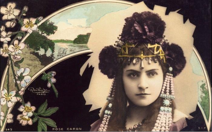 Французская оперная певица Роза Карон, 1905 год.