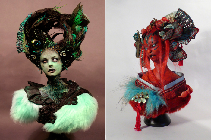Повелительница долин. \ Красный демон. Автор Virginie Ropars.