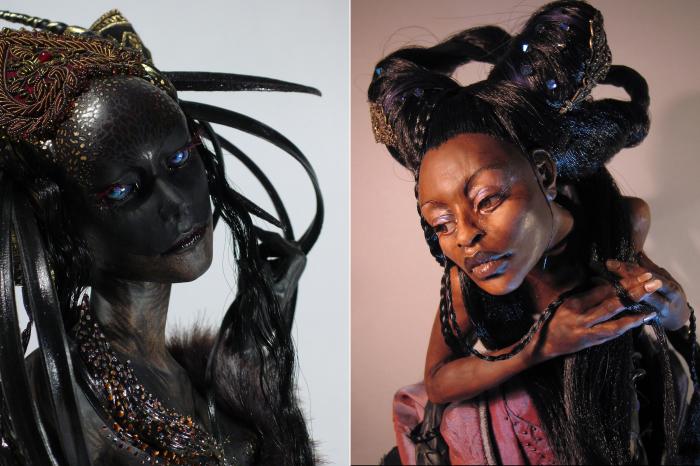 Королева ночи. \ Африканская красавица. Автор: Elise Remender.