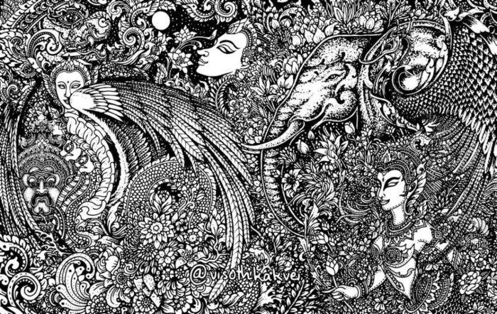 Гипнотические иллюстрации от Висота Каквея.