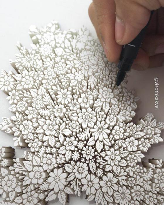 Ажурные цветы. Автор: Visoth Kakvei.