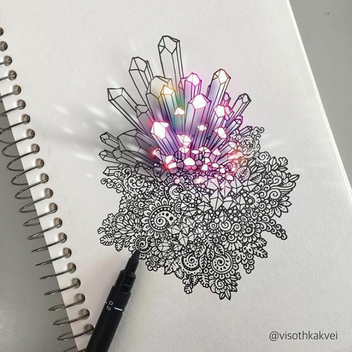 Волшебные кристаллы. Автор: Visoth Kakvei.