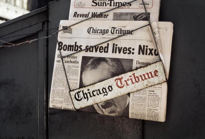Газета, Чикаго, 1973 год. Автор: Vivian Maier.