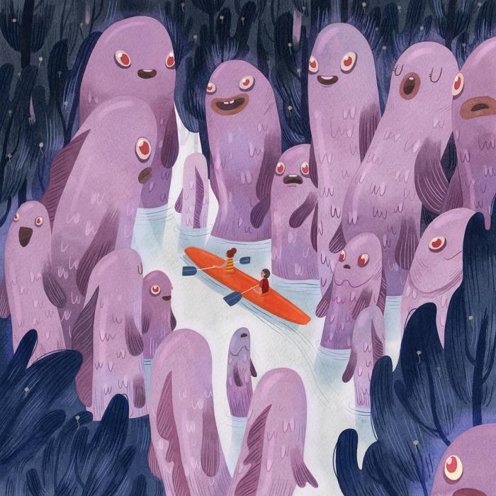 Призрачные рыбы. Автор: Vivian Mineker.