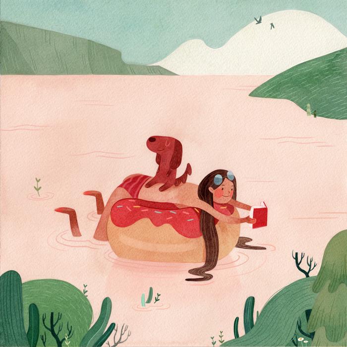 Пончик-поплавок. Автор: Vivian Mineker.