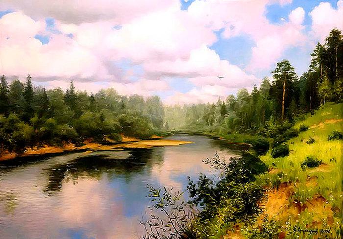Умиротворяющий пейзаж. Автор: Владимир Александров.