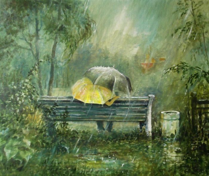 Два зонтика. Автор: Владимир Березин.