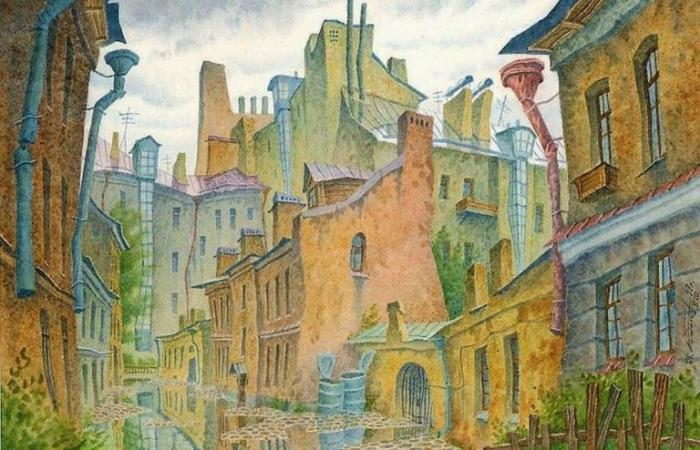 Город после дождя. Автор: Владимир Колбасов.