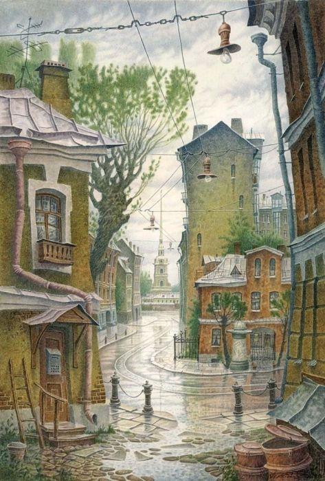 Дождь. Автор: Владимир Колбасов.
