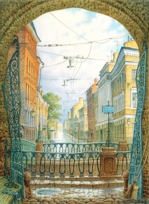 Итальянская улица. Автор: Владимир Колбасов.