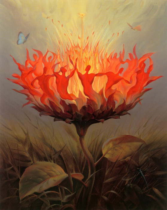 Огненный танец. Автор: Владимир Куш.