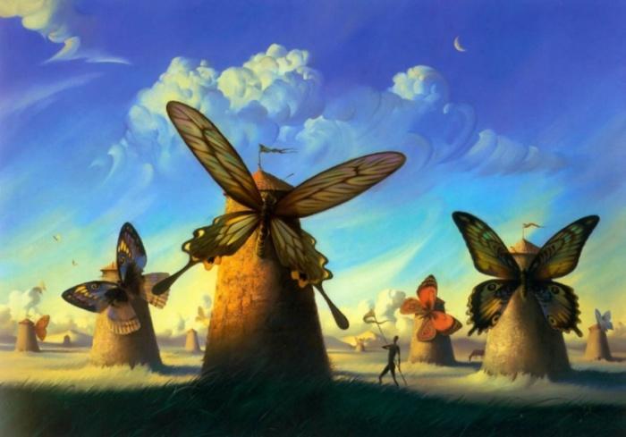 Ветряные бабочки. Vladimir Kush.