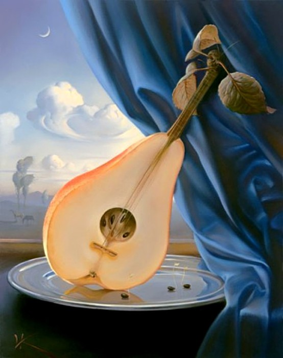 Натюрморт с мандолиной. Автор: Владимир Куш.