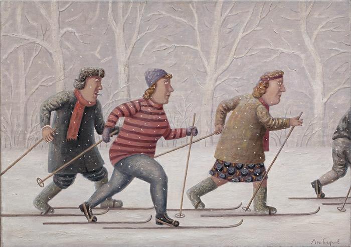 Лыжная гонка. Автор работ: Владимир Любаров (Vladimir Lyubarov).