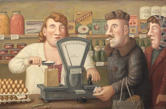 Михалыч покупает сахарный песок. Автор работ: Владимир Любаров (Vladimir Lyubarov).