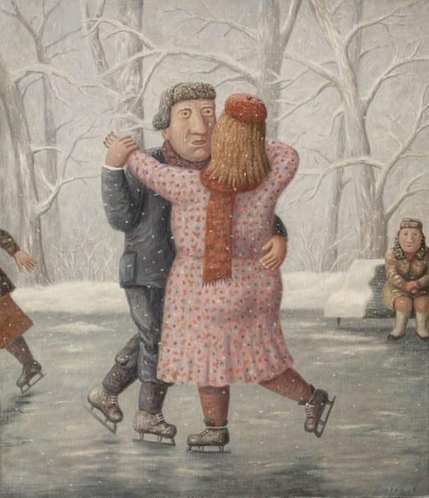 Парное катание. Автор работ: Владимир Любаров (Vladimir Lyubarov).