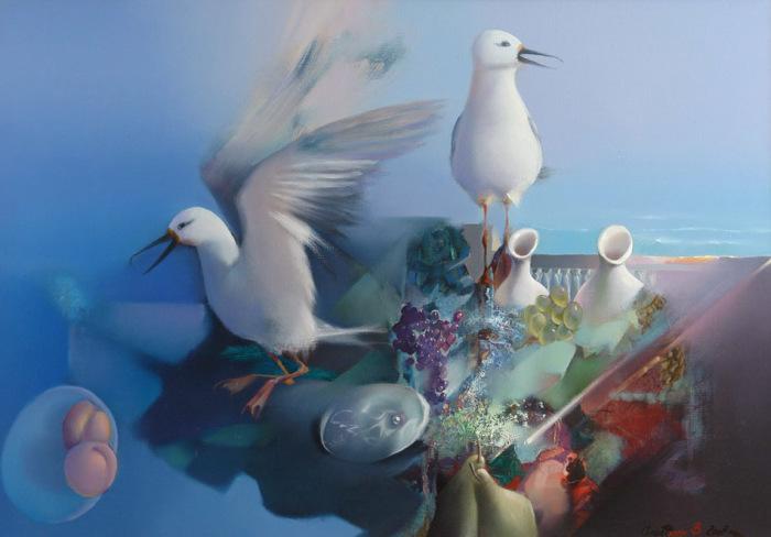 Завтрак с подарком. Автор: Владимир Солдтакин.