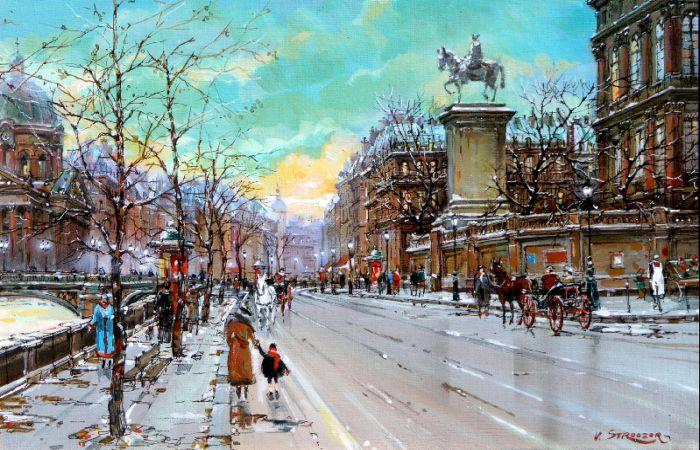 Площадь Отель-де-Виль, Париж. Автор: Владимир Струзер.