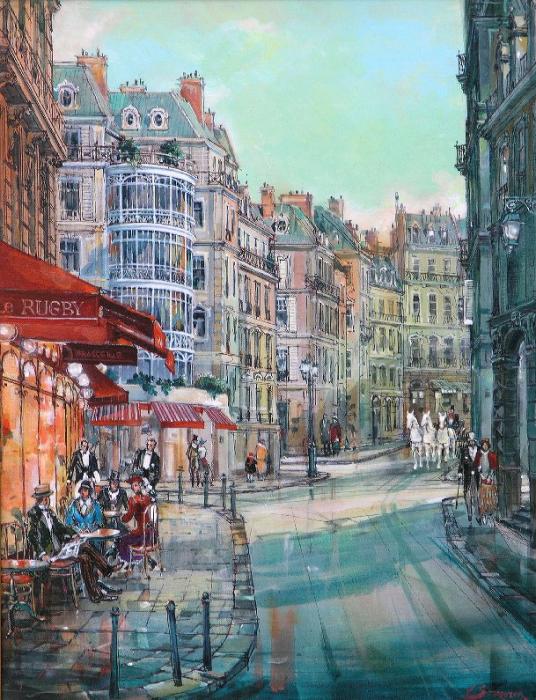 Кафе Le Rugby, Париж. Автор: Владимир Струзер.
