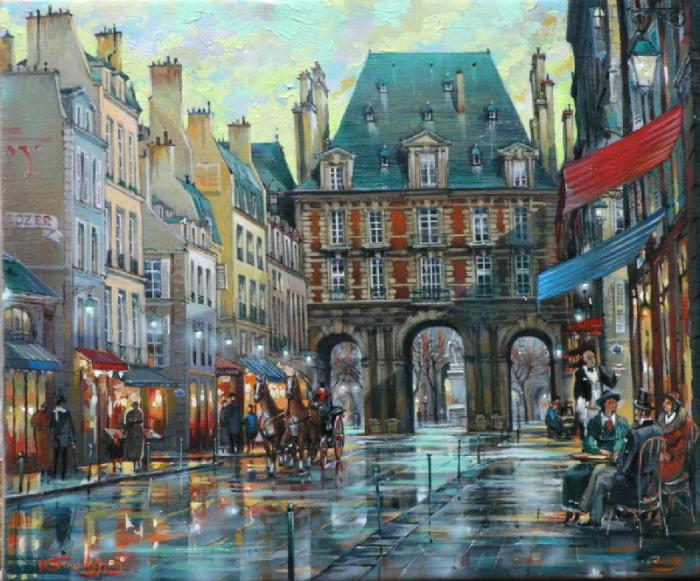 Площадь Вогезов, Париж. Автор: Владимир Струзер.