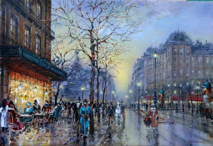Дождливый день в Париже. Автор: Владимир Струзер.